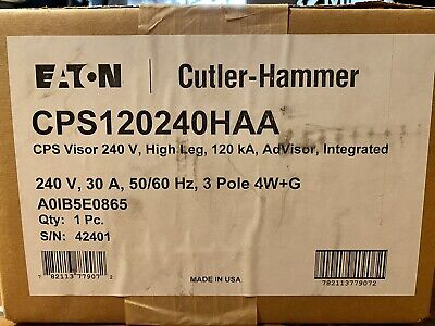 New Cutler-hammer Cps120240haa 240v 30a Clipper Power System Surge Suppressor