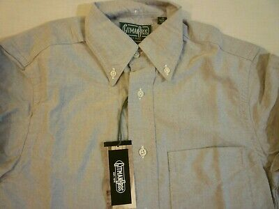 GITMAN BROS VINTAGE Gray Oxford Cloth New WO Tags XS $165 Made In USA