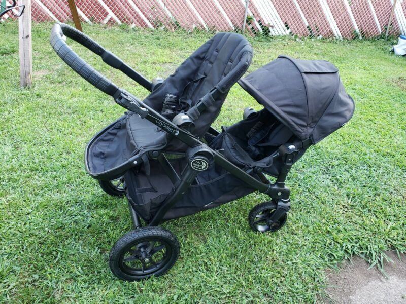 Baby Jogger City Select Double Stroller w/ 2nd Seat - Black