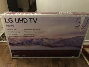 "BRAND NEW LG 50"" 4K SMART TV"