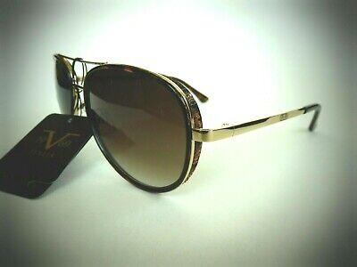 NEW Versace 1969 ITALIA BELLA Aviator Gold Sunglasses 19V69