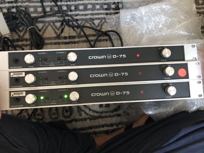 CROWN D-75 Stereo / Mono Amplifier (Bridgeable)