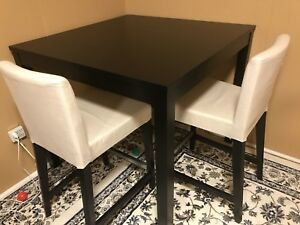 LIKE NEW - Black brown Ikea BJURSTA Bar table -GREAT DEAL!!!