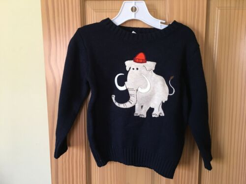 NWT Gymboree Boy Elephant Sweater Pullover Navy Blue 2T,3T,4T,5T Toddler Outlet