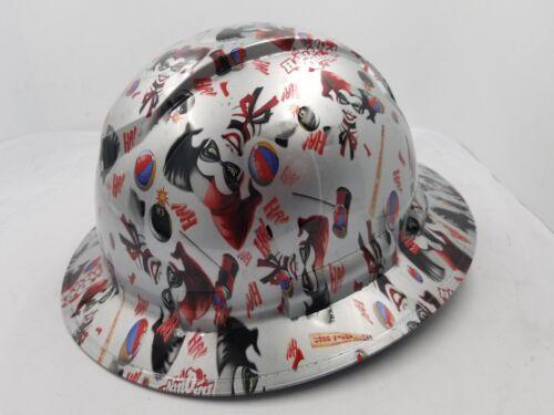 FULL BRIM Hard Hat custom hydro dipped , NEW HARLEY QUINN JOKER BATMAN NEW 2