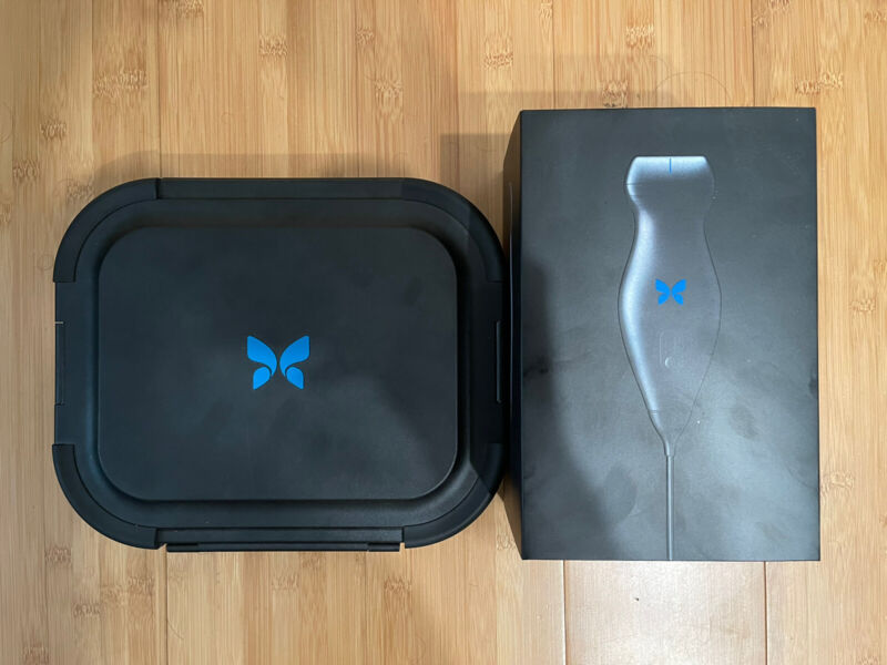 Butterfly IQ+ ultrasound with carrying case