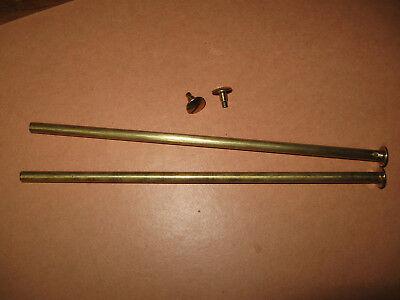2 Stück Buchschrauben messingfarbig vermessingt Schaft 5 mm Füllhöhe 165 mm