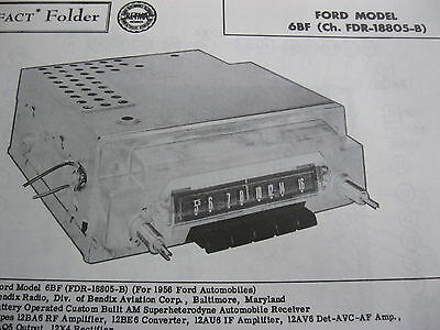 1956 FORD 6BF, FDR-18805-B RADIO PHOTOFACT