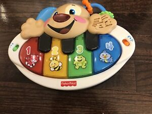 Fisher price laugh and learn puppy's piano toy