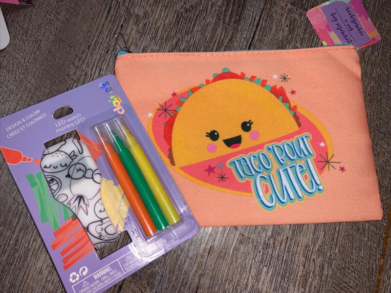 Claire's Design & Color Led Fruit Watch Taco Cosm Bts Bag Nwt