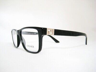 New Authentic VERSACE Eyeglasses VE3211 GB1 Black 55mm