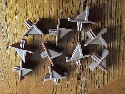 10 X Shelf Support With 1 4  Fluted Peg  Tan  With Usps Tracking Number