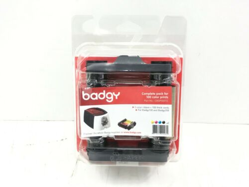 Badgy Consumable Pack for Badgy100 & Badgy200 Card Printers - 100 Prints