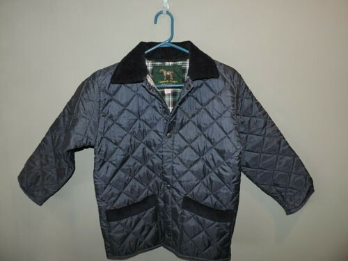Campbell Cooper Boys Kids Navy Blue Quilted Riding Jacket SZ 8 Made in England