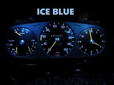 77 85 Mercedes Benz W123 Chassis Gauge Cluster LED Dashboard Bulbs Ice Blue