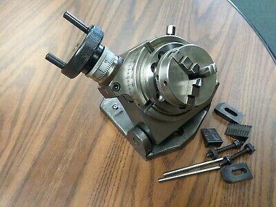 4 Precision Tilting Rotary Table W. 365mm 3-jaw Chuck Partttsk-100ck- New
