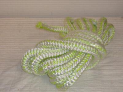 """1""""x34 feet 12 carrier 24 strand polyester white/green bull rope"""