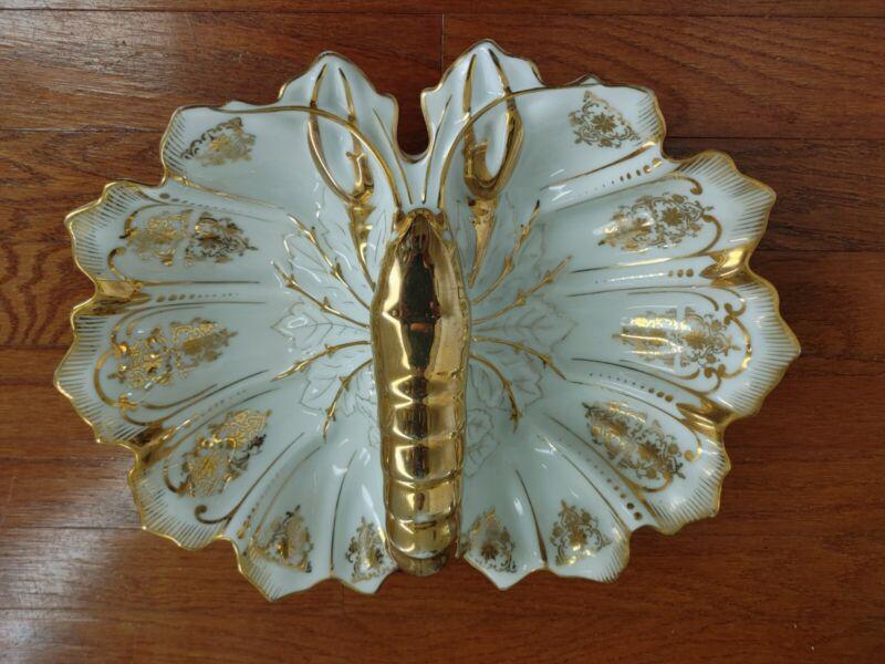 Antique Lobster Dish Porcelain Serving Platter Joseph Schachtel J.S. Germany