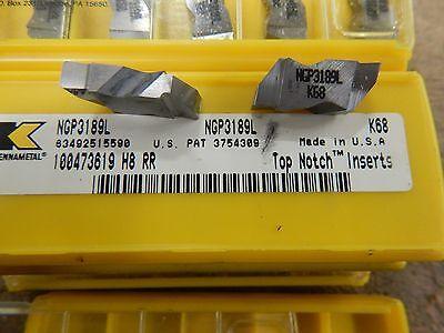 5 Kennametal Top Notch Ngp 3189 L K68 Carbide Grooving Inserts