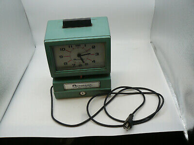 Acroprint Time Punch Clock Recorder Model 125 Used Parts And Repair Runs