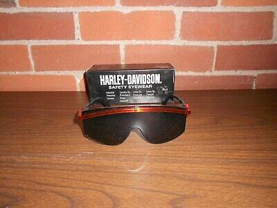 Harley Davidson Safety Glasses Eye Wear Black Frames Clear Lens - F3