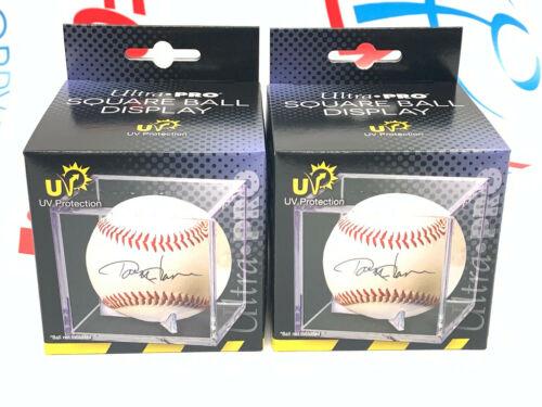 (2) Ultra Pro Baseball Cube, Uv Protected Baseball Display Case Clear New