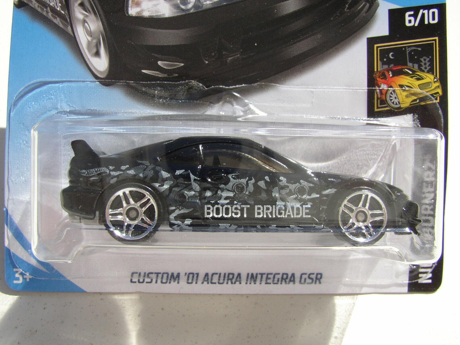 Hot Wheels 2018 Kmart K Day Black Custom 01 Acura Integra Gsr Nightburnerz 6 10 Ebay