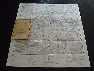 alte Landkarte Karte Meßtischblatt Nr.2380 Blankenburg von 1916