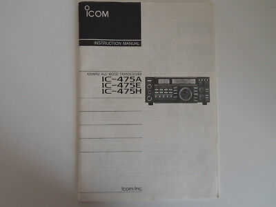 (ICOM-475 (GENUINE PRINT INSTRUCTION MANUAL ONLY)...........RADIO_TRADER_IRELAND.)
