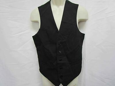 Men's Small Apt. 9 Premier Flex Slim-Fit Suit Vest, Black *See (Apt 9 Black Suit)