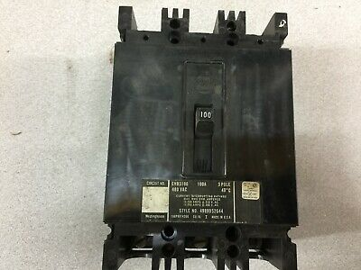 New No Box Westinghouse 100amp 3pole 480vac Breaker Ehb3100