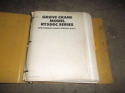 Grove Rt500c Rough Terrain Crane Factory Parts Catalog Manual
