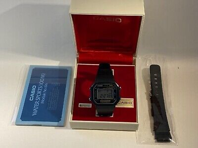 Vintage Retro Casio H110 108 Marlin LCD Digital Watch Japan READ DESCRIPTION
