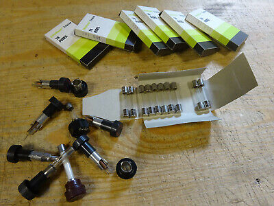 Fuses 0,10amp fast + some holders (B-55) nos (0,2 kg)