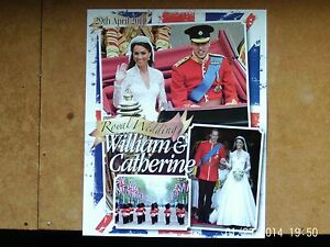 Prince William and Kate Middleton Wedding Photo's 4 Page HELLO Magazine pullout