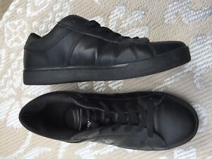 US Polo Assn men's leather runners black
