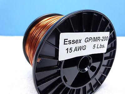 15 Awg...enamel Magnet Wire..200c 5 Lb..15 Ga..500 Essex...free Shipping