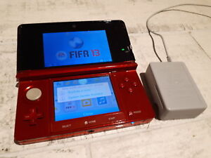 Flame Red Nintendo 3DS With Charger & Game