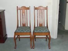 2 x Australian Oak Dining Chairs Circa 1930's Conder Tuggeranong Preview