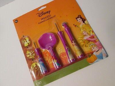 Disney PRINCESS PUMPKIN CARVING KIT 7 Patterns 4 Tools NEW Cinderella BELLE Snow](Princess Pumpkin Carving)