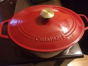 Cuisinart cast iron Dutch Oven pot and Grill Skillet