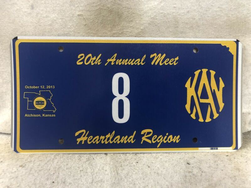 Kansas ALPCA Souvenir License Plate #8