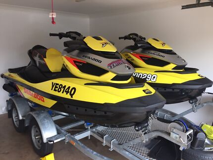 2015 Seadoo rxt x 260as suspension models x 2 on tandem axle trailer