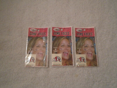3 Bulldogs Game Faces Temporary Tattoos 12 total