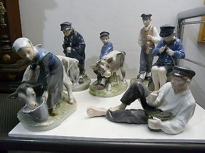 ROYAL COPENHAGEN Sammlung sechs Figuren 1.Wahl
