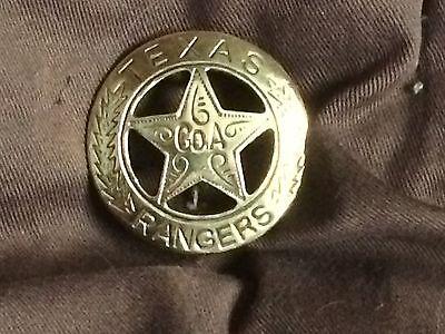 Solid Brass Old West Badge 'Texas Ranger- CoA' *costume* old west * - Texas Ranger Costume