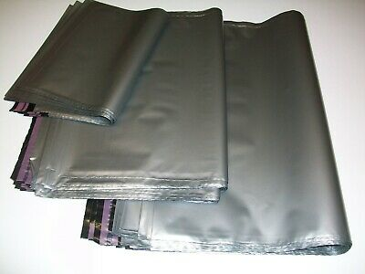 50 SILVER mix sizes Mailing Poly Postal Bags Postage Packaging Mailers Envelopes