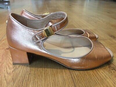 Kat Maconie Rose Gold Mary Janes Dolly Shoes UK 5 US 7B