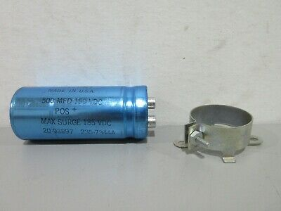 New Mallory 235-7344a 500mfd 150vdc Electrolytic Capacitor 20-93897