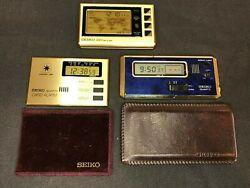 Vintage Seiko Table travel Clocks Digital LCD World Time: S991, 7411-003L, YS50
